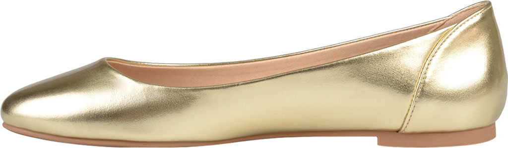 Women's Journee Collection Kavn Ballet Flat, Gold Faux Leather, large, image 3