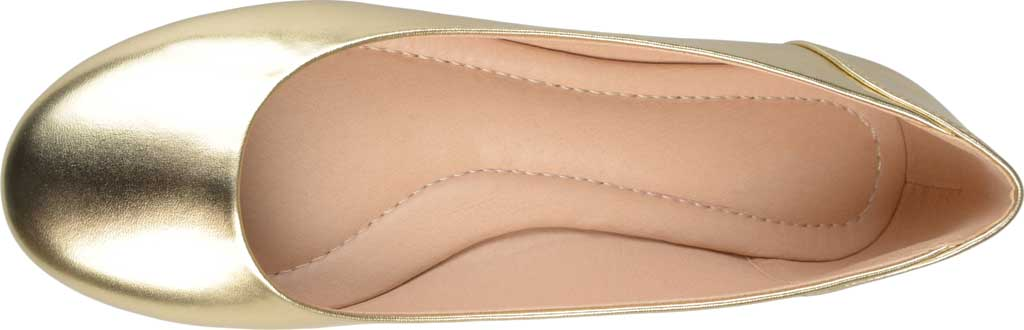 Women's Journee Collection Kavn Ballet Flat, Gold Faux Leather, large, image 5