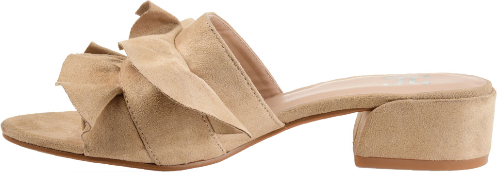 Women's Journee Collection Sabica Heeled Slide, Nude Faux Suede, large, image 3
