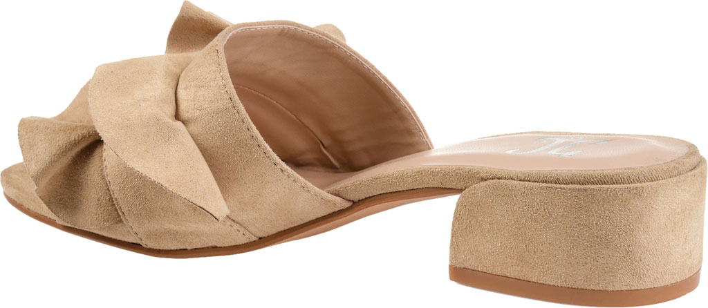 Women's Journee Collection Sabica Heeled Slide, Nude Faux Suede, large, image 4