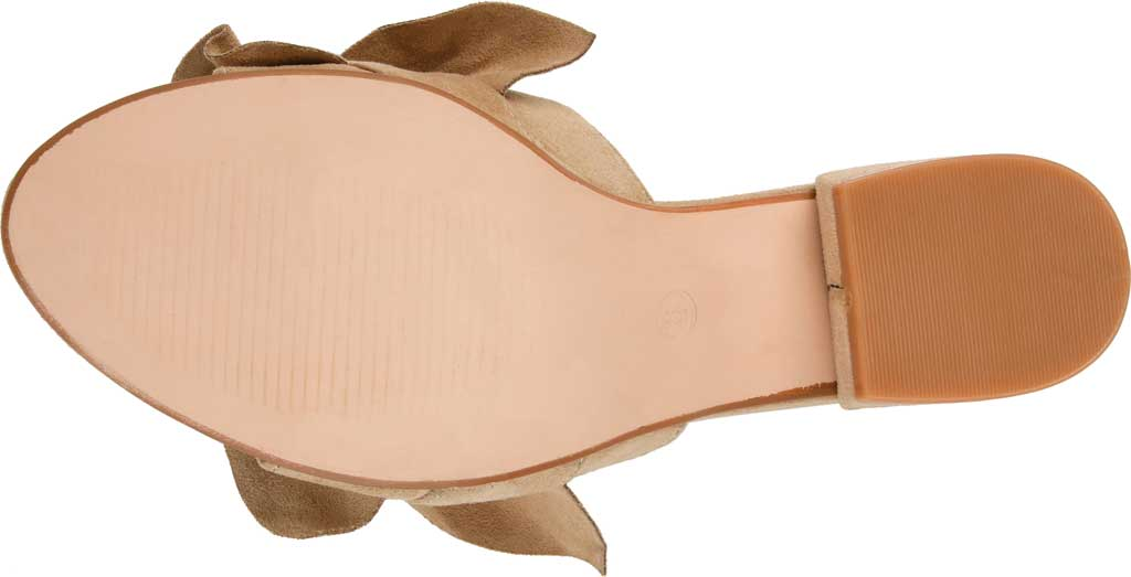 Women's Journee Collection Sabica Heeled Slide, Nude Faux Suede, large, image 6