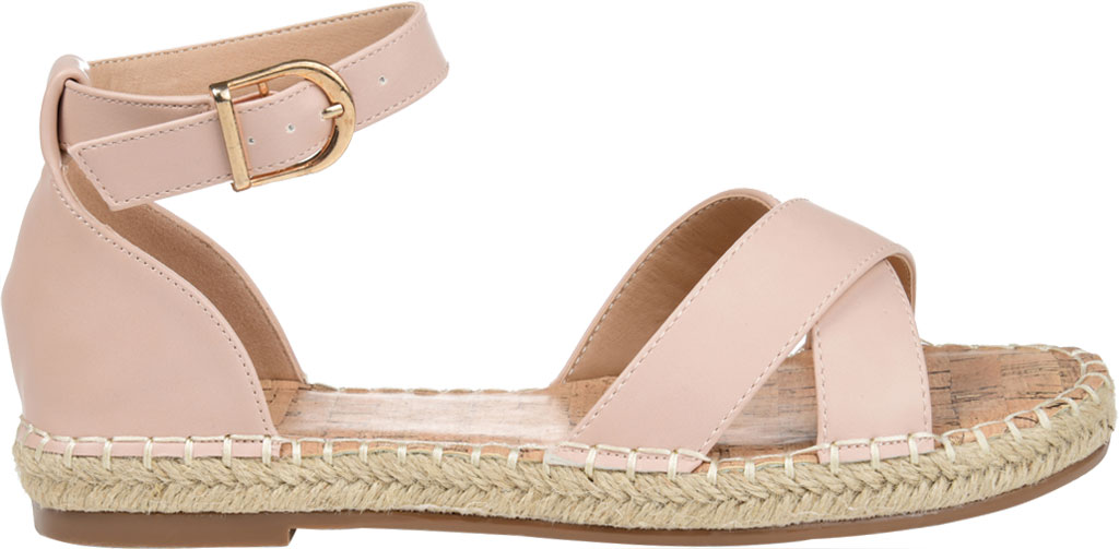 Women's Journee Collection Lyddia Espadrille Ankle Strap Sandal, Blush Faux Leather, large, image 2