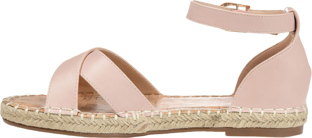 Women's Journee Collection Lyddia Espadrille Ankle Strap Sandal, Blush Faux Leather, large, image 3