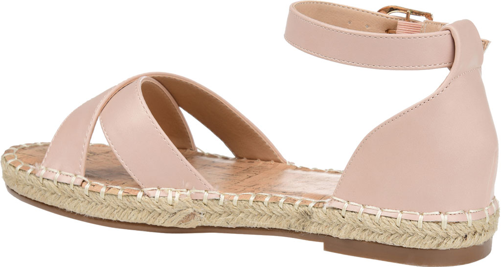 Women's Journee Collection Lyddia Espadrille Ankle Strap Sandal, Blush Faux Leather, large, image 4