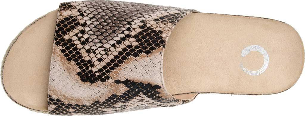 Women's Journee Collection Celine Espadrille Slide, Snake Faux Leather, large, image 5