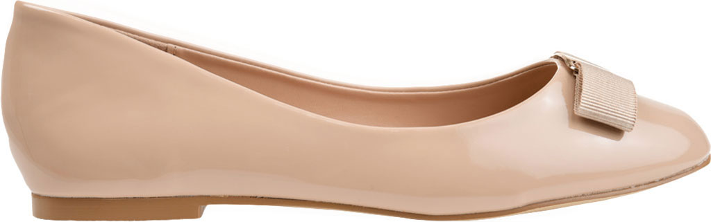 Women's Journee Collection Kim 2 Ballet Flat, Nude Faux Leather/Patent, large, image 2