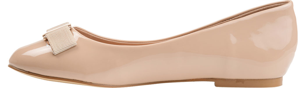 Women's Journee Collection Kim 2 Ballet Flat, Nude Faux Leather/Patent, large, image 3
