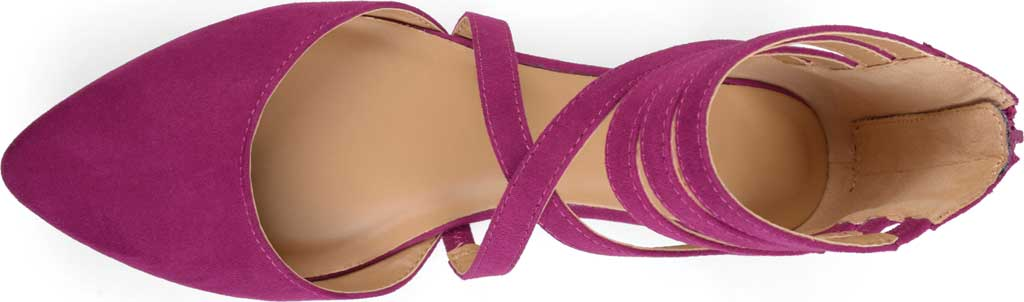 Women's Journee Collection Marlee Pointed Toe Flat, Purple Faux Suede, large, image 4