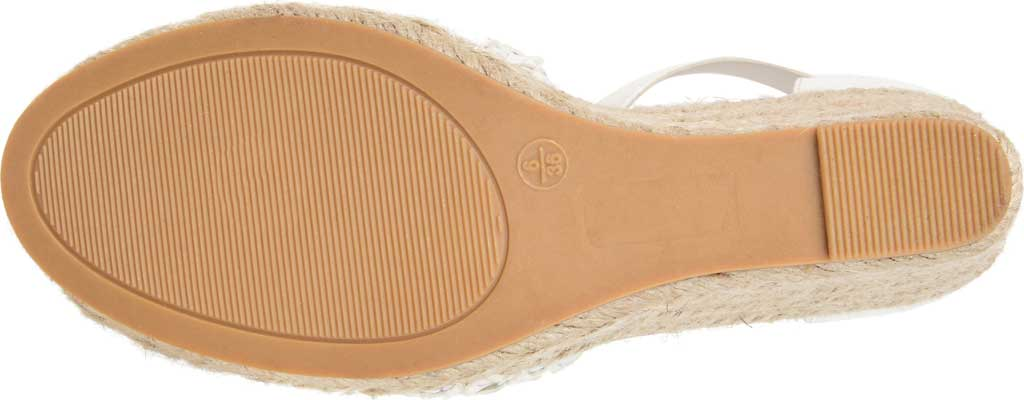Women's Journee Collection Sierra2 Espadrille Wedge Closed Toe Sandal, White Faux Leather, large, image 6