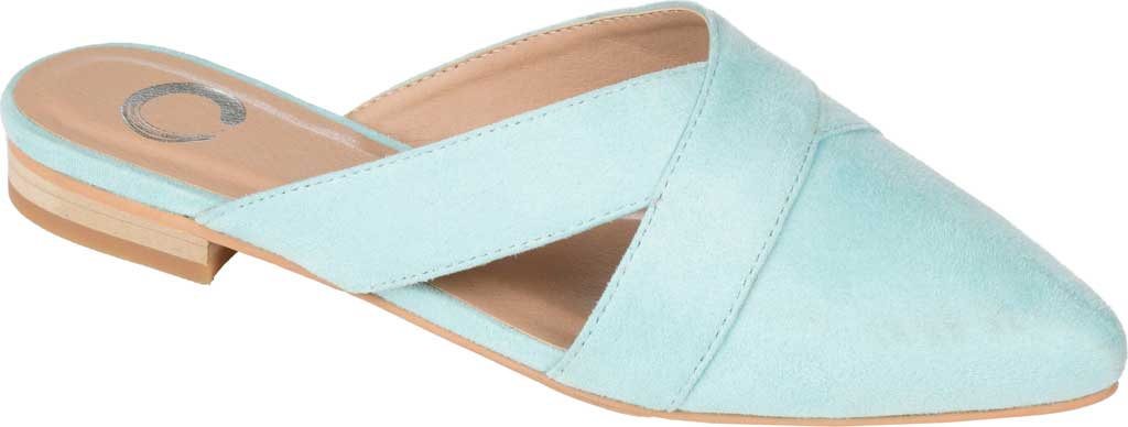Women's Journee Collection Giada Mule, Mint Faux Suede, large, image 1