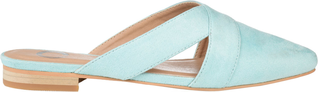 Women's Journee Collection Giada Mule, Mint Faux Suede, large, image 2
