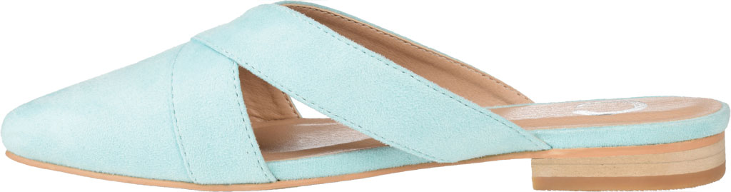 Women's Journee Collection Giada Mule, Mint Faux Suede, large, image 3