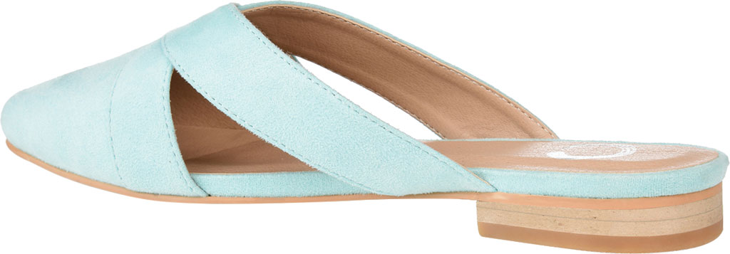 Women's Journee Collection Giada Mule, Mint Faux Suede, large, image 4
