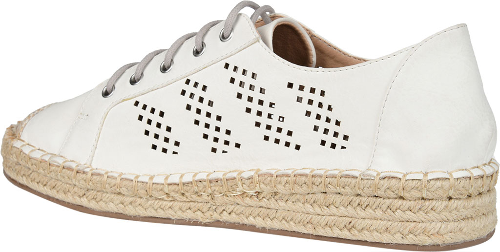 Women's Journee Collection Razili Espadrille Sneaker, White Faux Leather, large, image 4