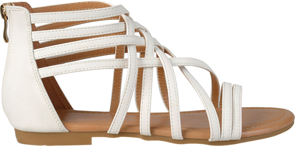 Women's Journee Collection Hanni Flat Strappy Sandal, , large, image 2