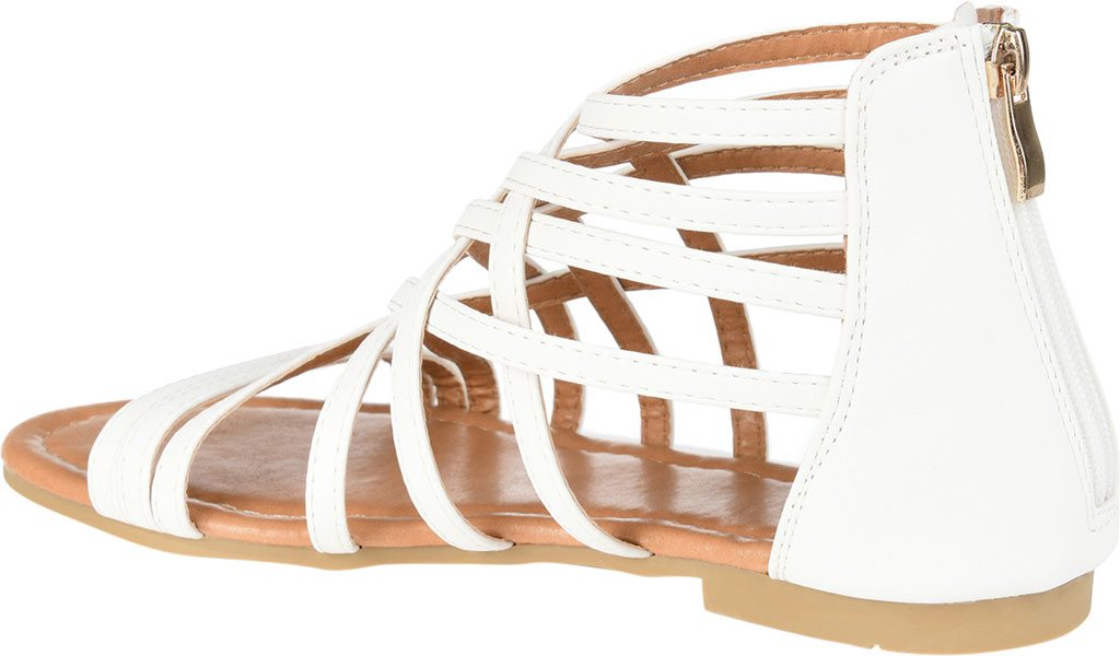 Women's Journee Collection Hanni Flat Strappy Sandal, , large, image 4