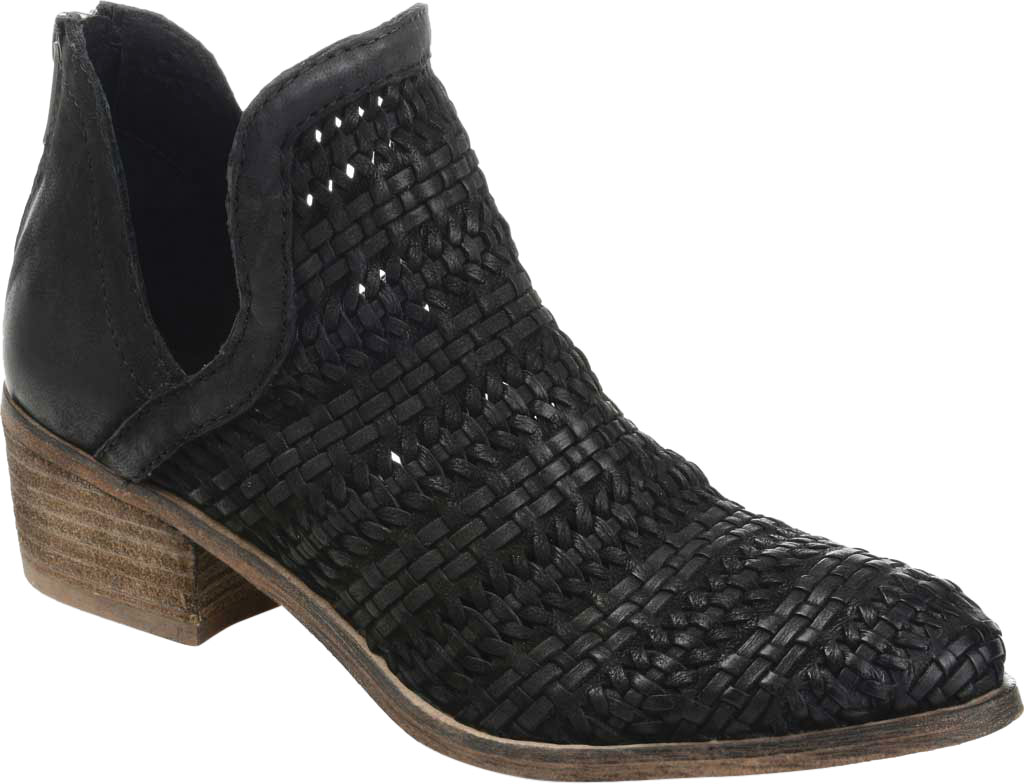 Women's Journee Collection Dakota Cut Out Ankle Bootie, Black Leather, large, image 1