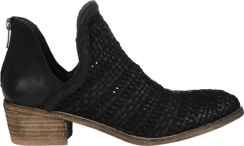Women's Journee Collection Dakota Cut Out Ankle Bootie, Black Leather, large, image 2