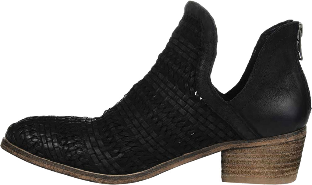 Women's Journee Collection Dakota Cut Out Ankle Bootie, Black Leather, large, image 3