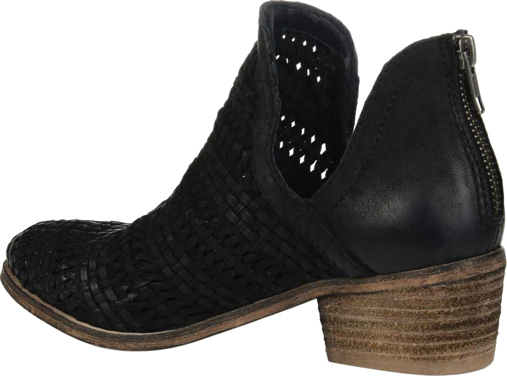Women's Journee Collection Dakota Cut Out Ankle Bootie, Black Leather, large, image 4