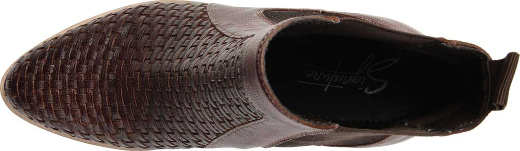 Women's Journee Collection Skyller Chelsea Bootie, Brown Leather, large, image 5