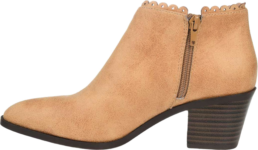 Women's Journee Collection Tessa Ankle Bootie, Tan Faux Suede, large, image 3