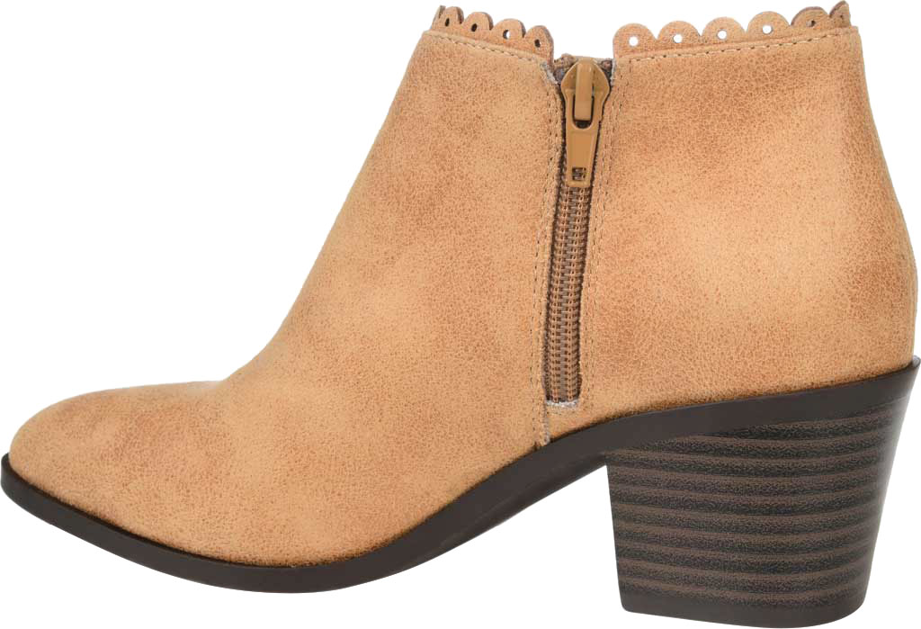 Women's Journee Collection Tessa Ankle Bootie, Tan Faux Suede, large, image 4