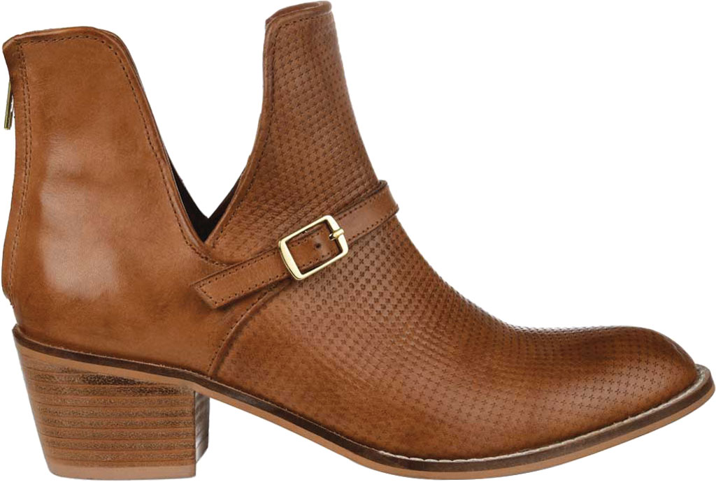 Women's Journee Collection Shaw Cut Out Ankle Bootie, Cognac Leather, large, image 2