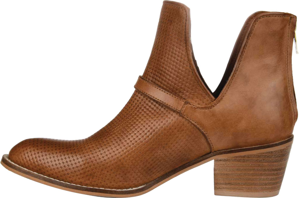Women's Journee Collection Shaw Cut Out Ankle Bootie, Cognac Leather, large, image 3