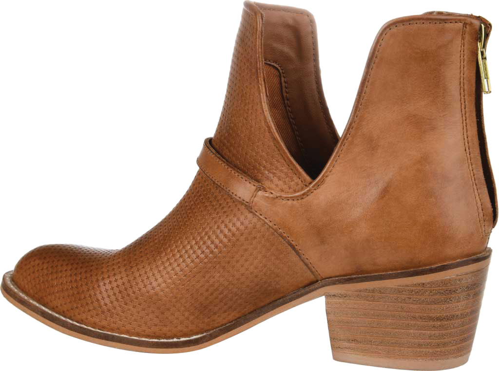 Women's Journee Collection Shaw Cut Out Ankle Bootie, Cognac Leather, large, image 4