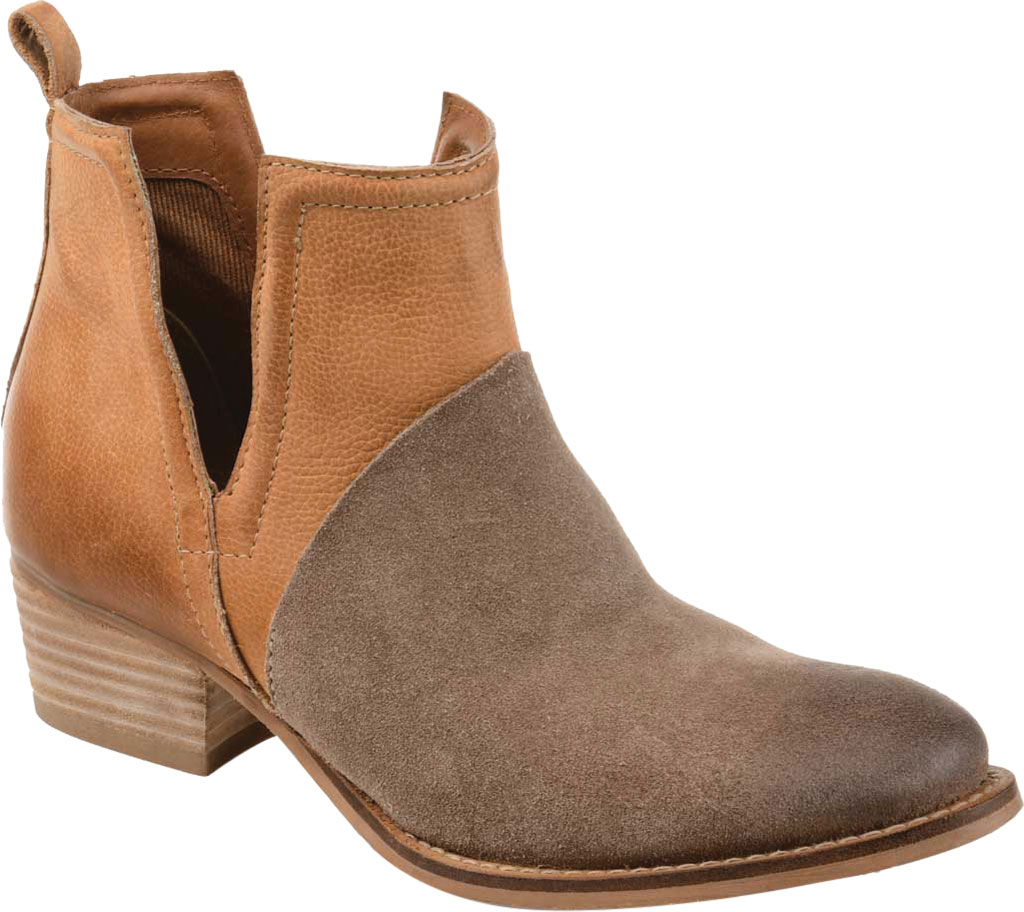 Women's Journee Collection Dempsy Cut Out Ankle Bootie, Cognac Leather, large, image 1