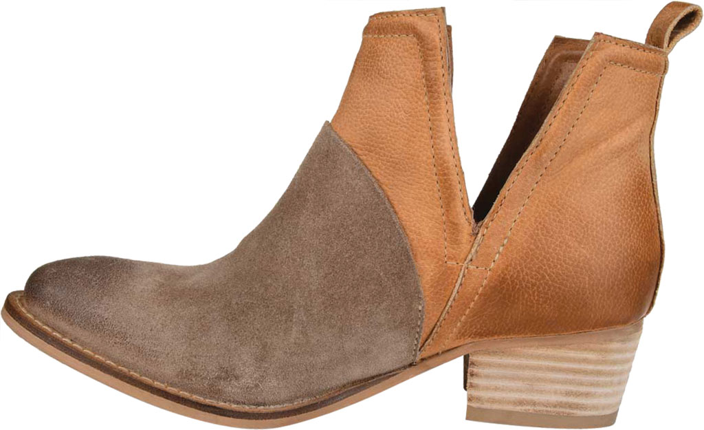 Women's Journee Collection Dempsy Cut Out Ankle Bootie, Cognac Leather, large, image 3