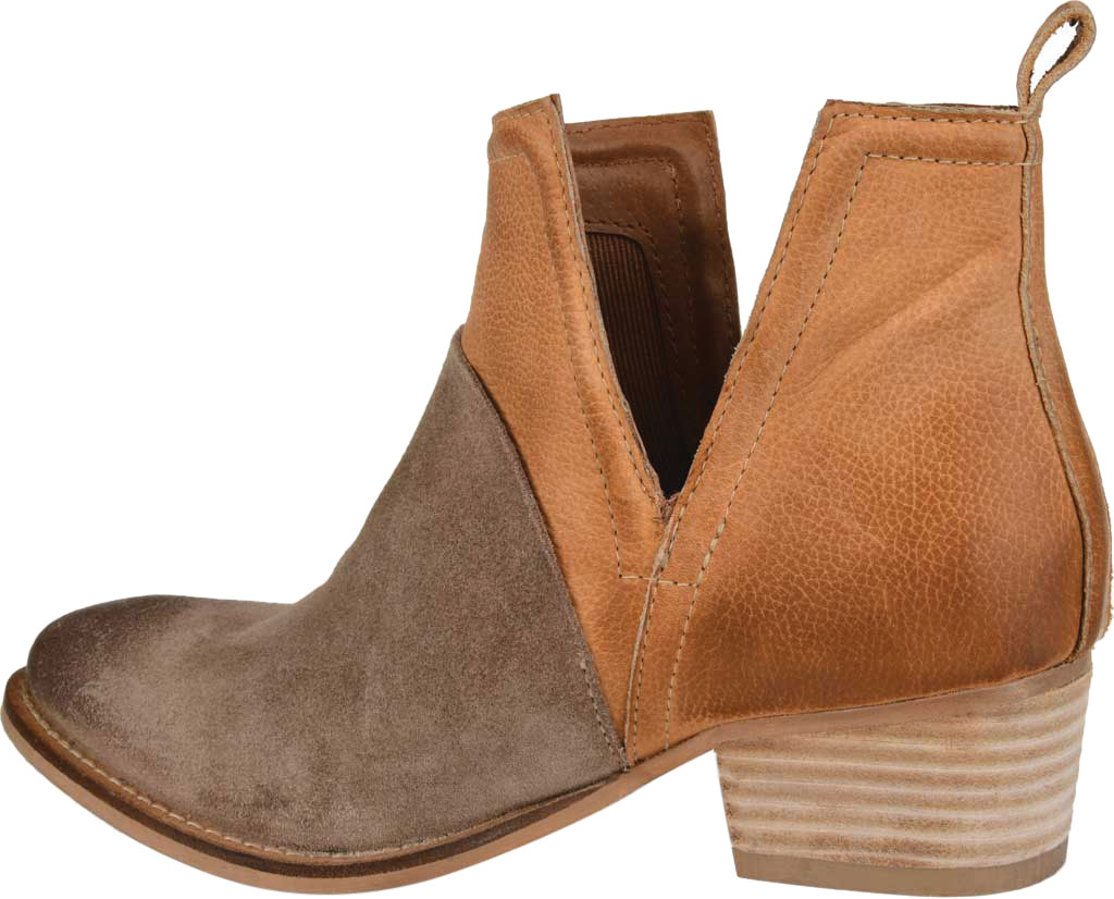 Women's Journee Collection Dempsy Cut Out Ankle Bootie, Cognac Leather, large, image 4