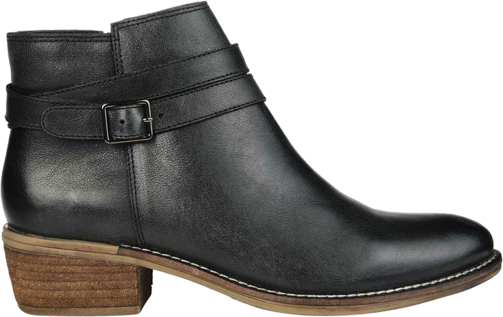 Women's Journee Collection Rachelle Ankle Bootie, Black Leather, large, image 2