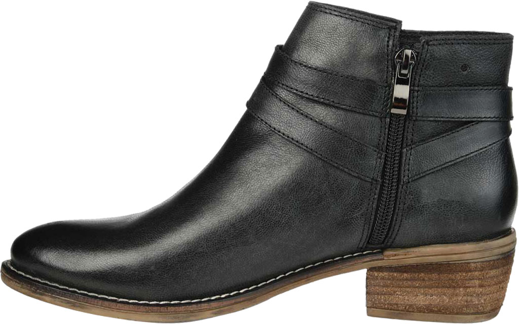 Women's Journee Collection Rachelle Ankle Bootie, Black Leather, large, image 3