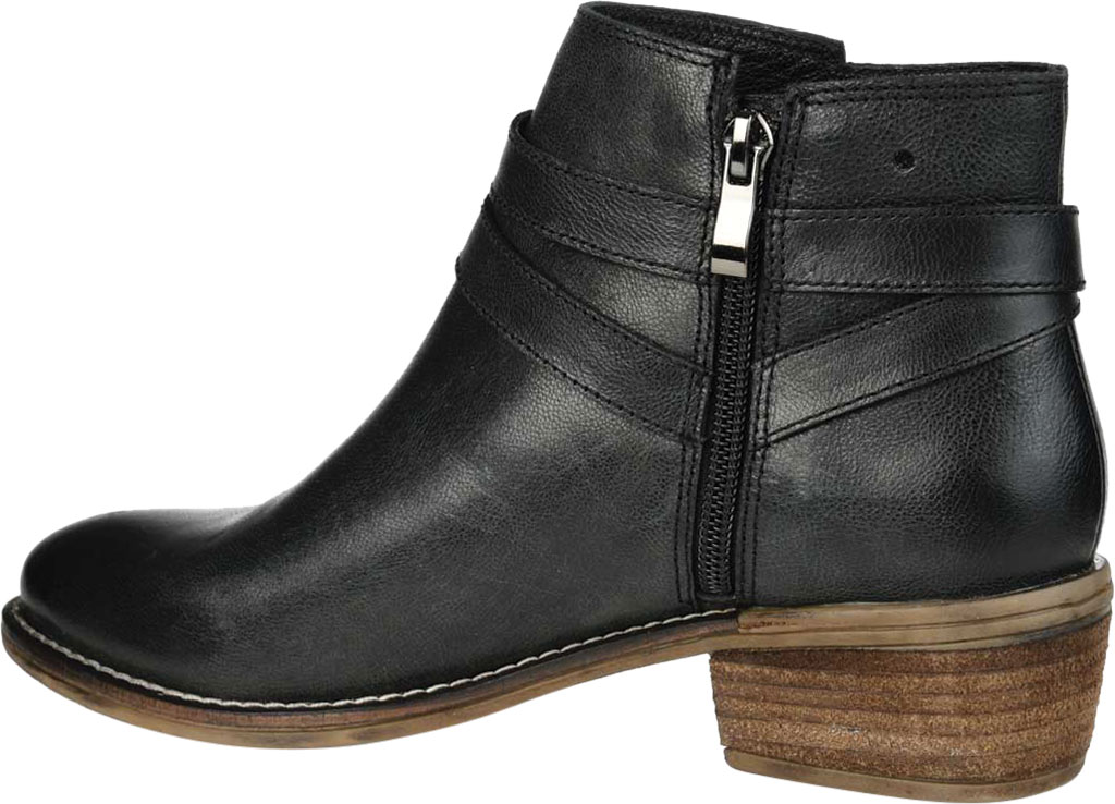 Women's Journee Collection Rachelle Ankle Bootie, Black Leather, large, image 4