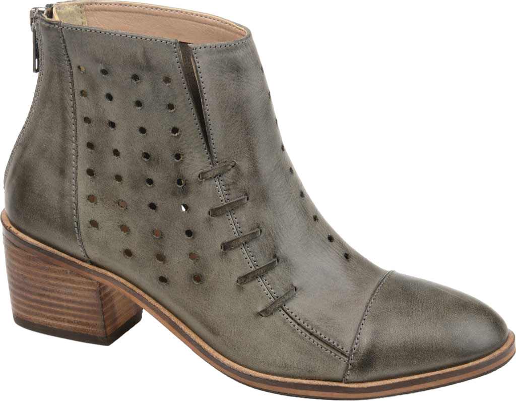 Women's Journee Collection Ulima Ankle Bootie, Grey Leather, large, image 1