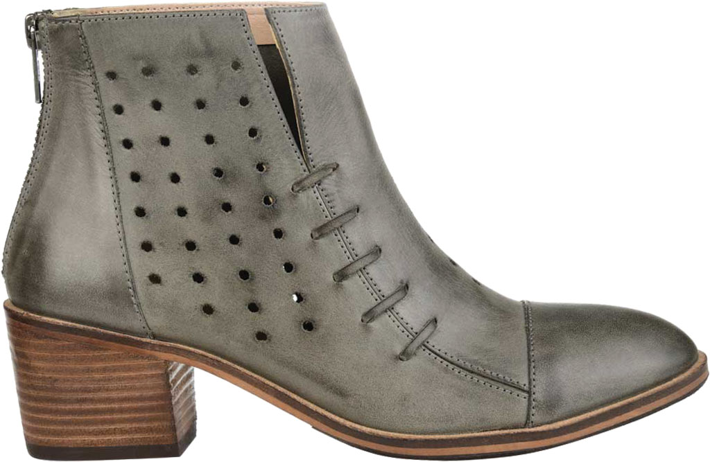 Women's Journee Collection Ulima Ankle Bootie, Grey Leather, large, image 2