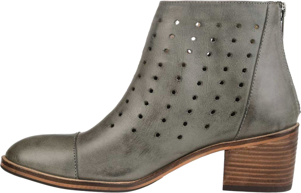 Women's Journee Collection Ulima Ankle Bootie, Grey Leather, large, image 3
