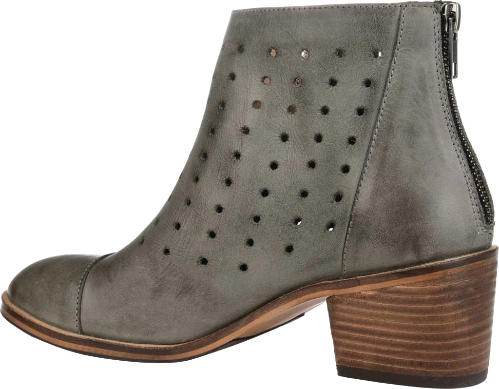 Women's Journee Collection Ulima Ankle Bootie, Grey Leather, large, image 4