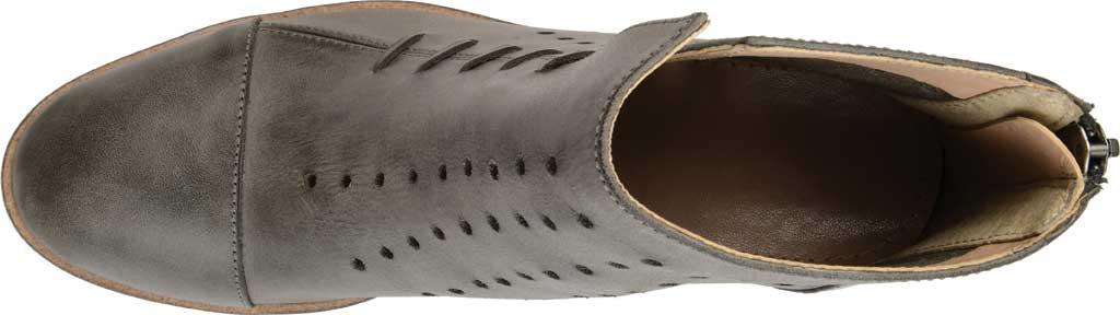 Women's Journee Collection Ulima Ankle Bootie, Grey Leather, large, image 5