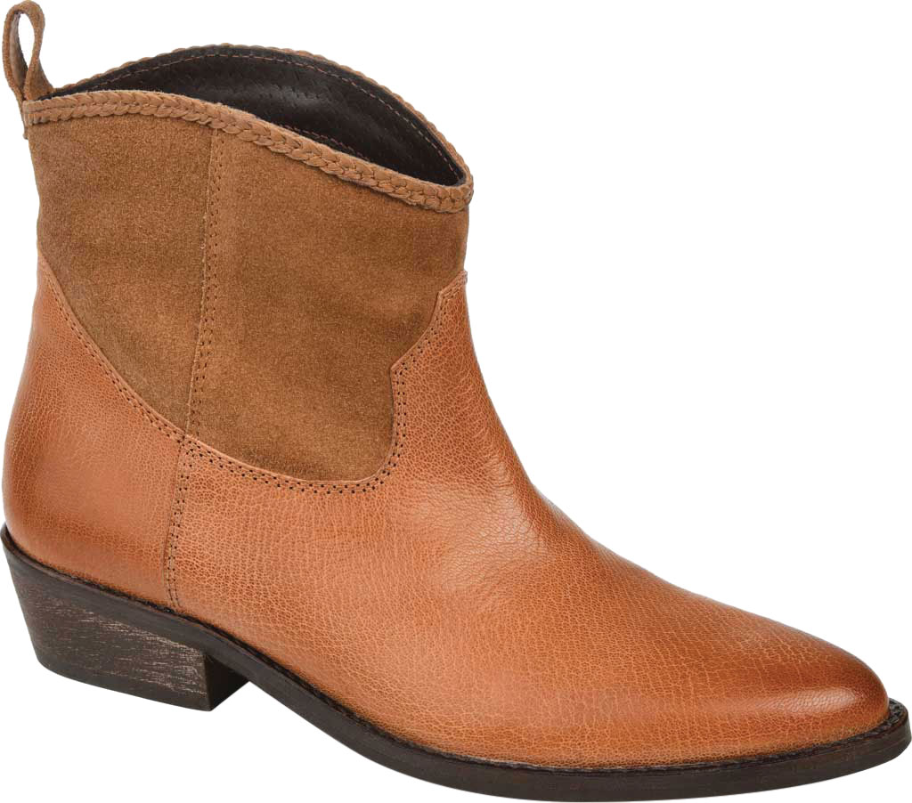 Women's Journee Collection Carmela Ankle Bootie, Tan Leather, large, image 1