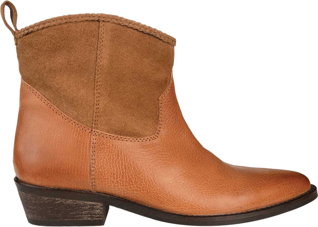 Women's Journee Collection Carmela Ankle Bootie, Tan Leather, large, image 2