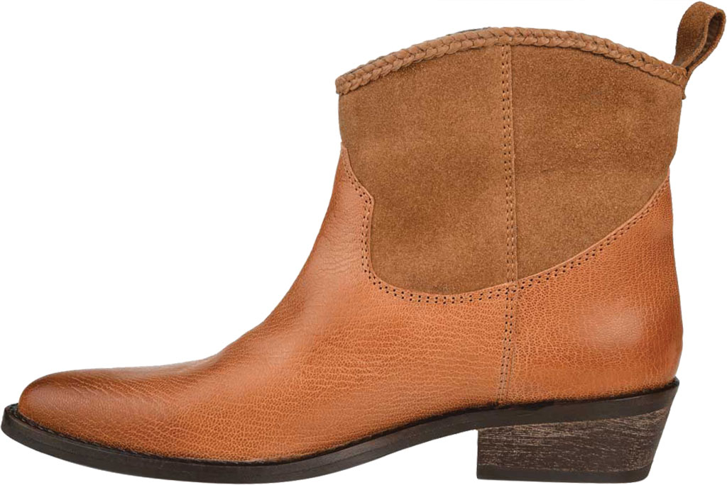 Women's Journee Collection Carmela Ankle Bootie, Tan Leather, large, image 3
