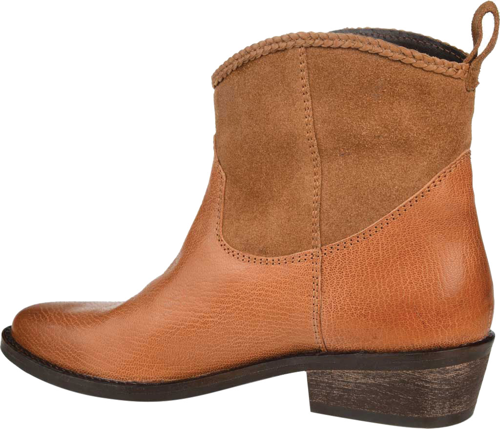 Women's Journee Collection Carmela Ankle Bootie, Tan Leather, large, image 4