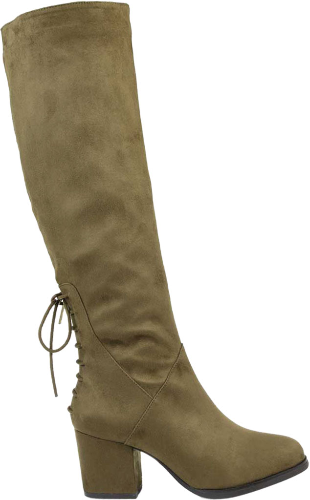 Women's Journee Collection Leeda Wide Calf Knee High Boot, Olive Faux Suede, large, image 2