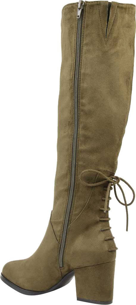Women's Journee Collection Leeda Wide Calf Knee High Boot, Olive Faux Suede, large, image 4