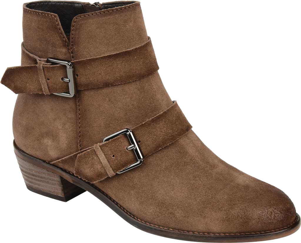 Women's Journee Collection Errin Ankle Bootie, Brown Distressed Suede, large, image 1