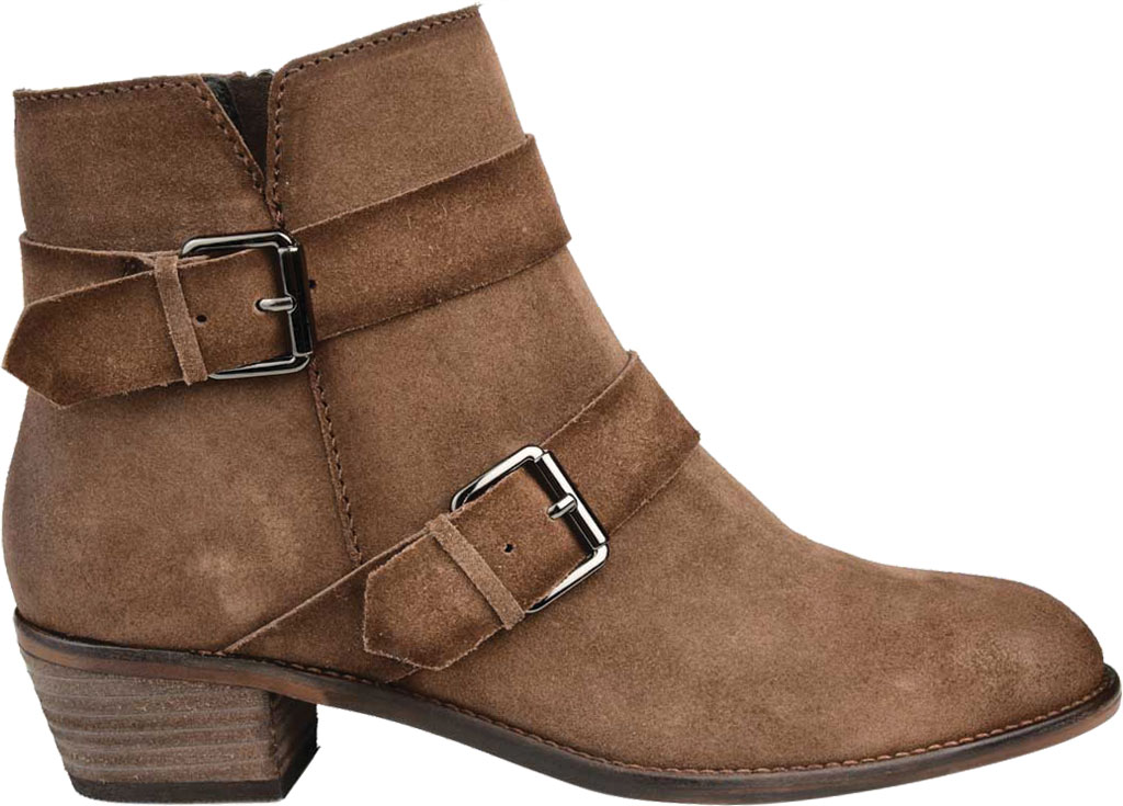 Women's Journee Collection Errin Ankle Bootie, Brown Distressed Suede, large, image 2