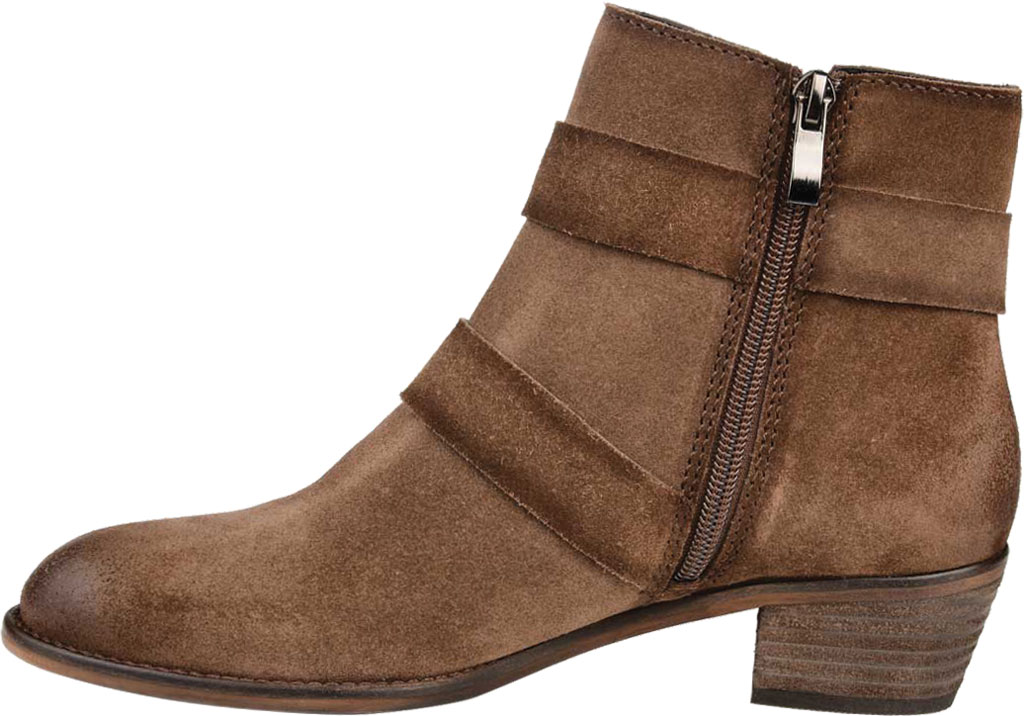 Women's Journee Collection Errin Ankle Bootie, Brown Distressed Suede, large, image 3